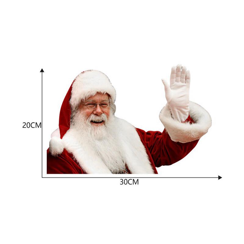 Christmas Decoration Hand Waving Santa Claus Car Sticker Decal