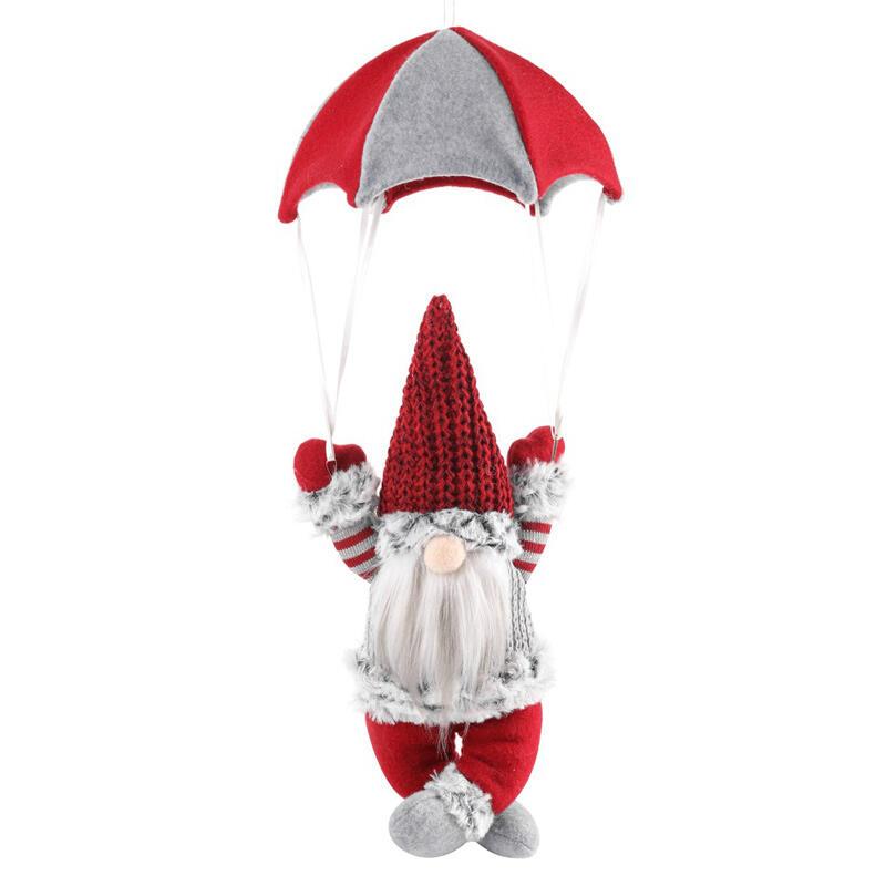 Christmas Gnomies Parachute Faceless Doll Hanging Ornament