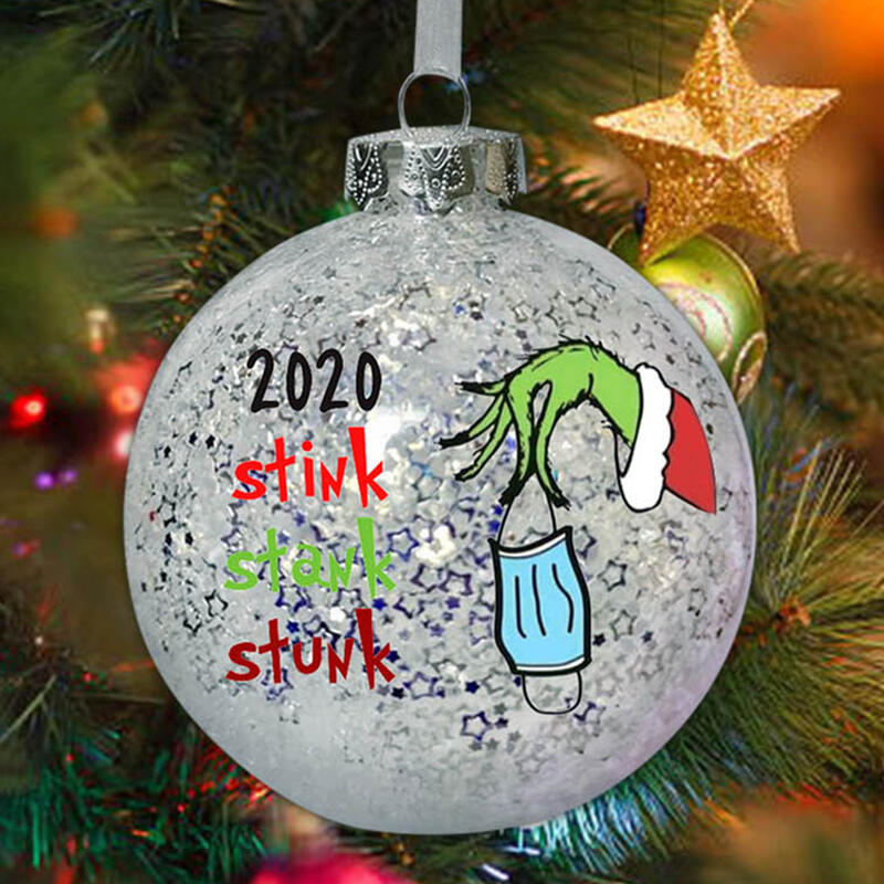 2020 Stink Stank Stunk Grinch Hand Christmas Ball Ornament
