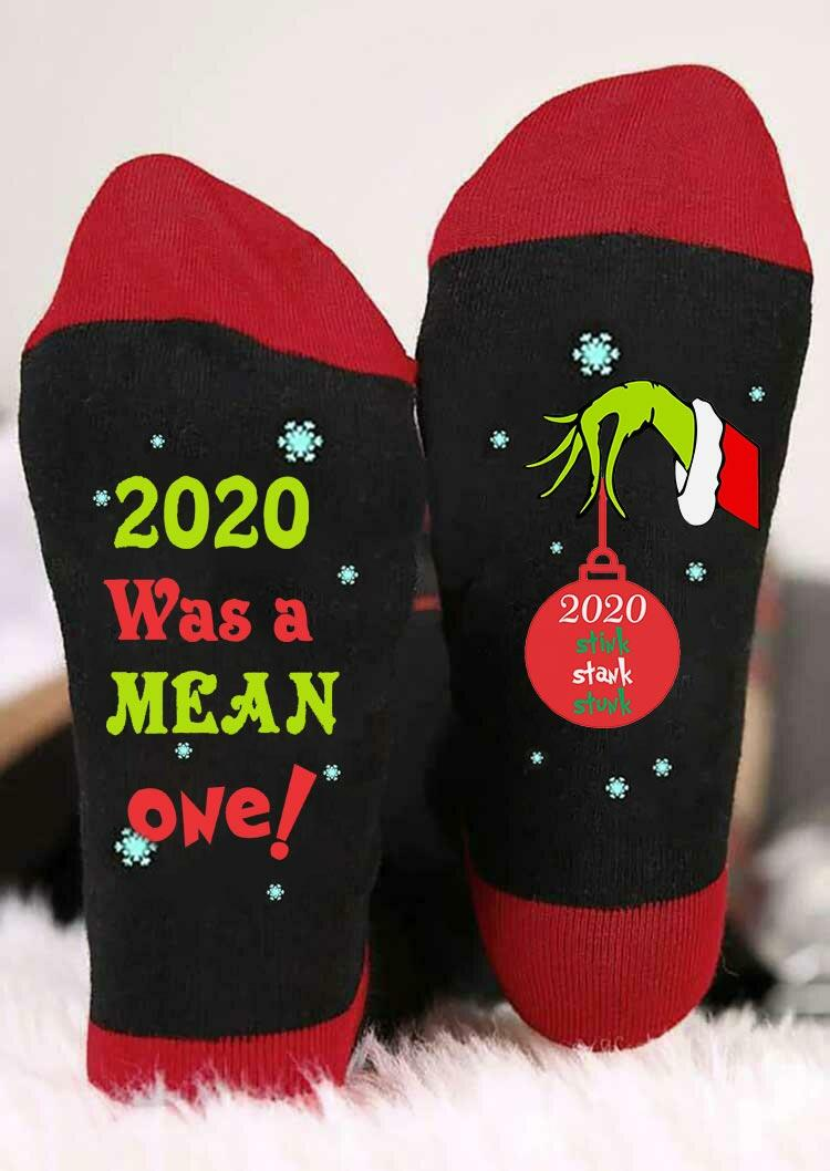 Christmas 2020 Stink Stank Stunk Grinch Hand Socks