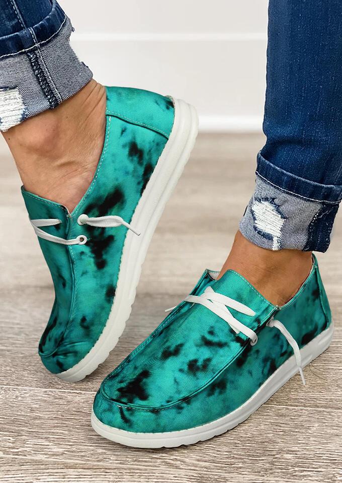 Fairyseason / Slip On Round Toe Flat Canvas Sneakers - Green