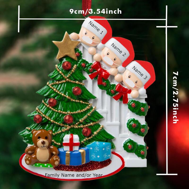 Creative DIY Family Christmas Tree Hanging Ornament