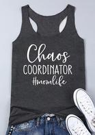Chaos Coordinator Mom Life Tank - Dark Grey