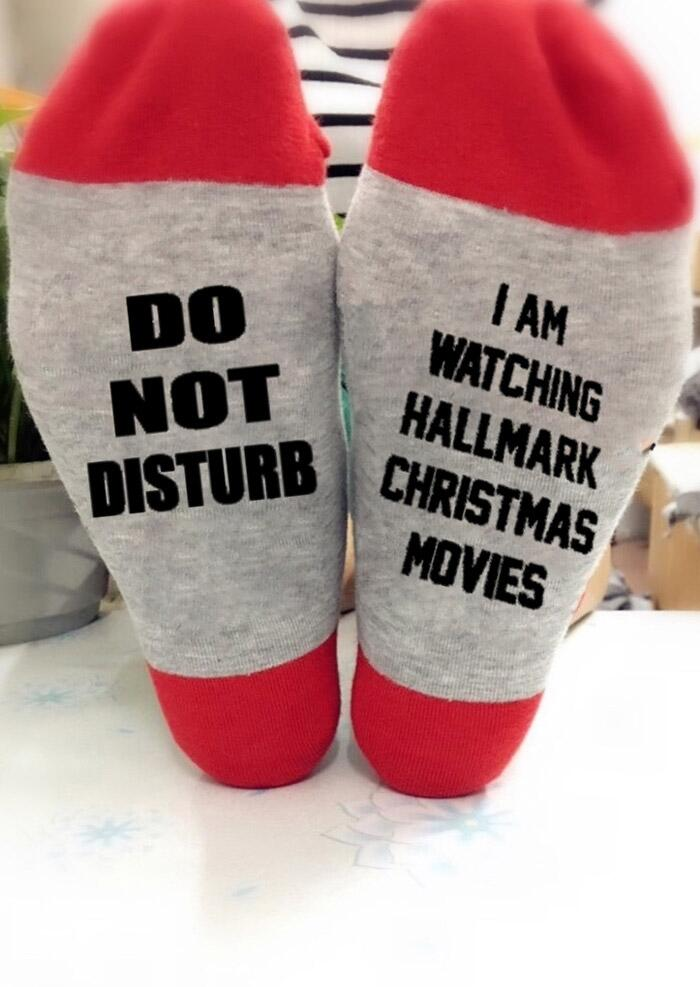 Christmas I Am Watching Hallmark Movies Socks