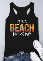 It's A Beach Kind Of Day Casual Tank - Black