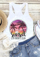 Sunset Is My Favorite Color Tank - White