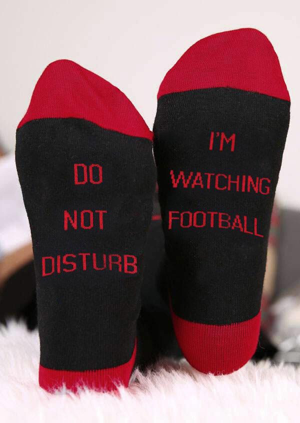 Do Not Disturb I'm Watching Football Socks