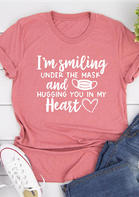 Hugging You In My Heart T-Shirt Tee - Cameo Brown