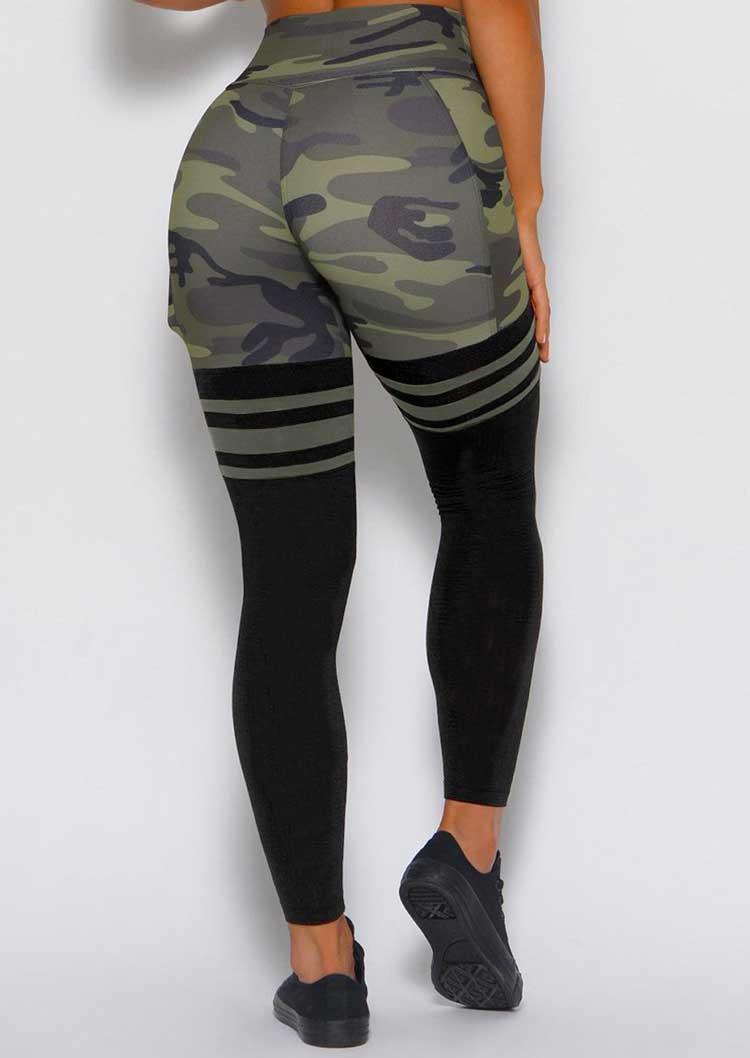 Camouflage Pocket Yoga Fitness Activewear Leggings
