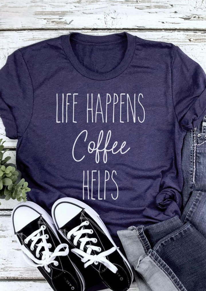 Life Happens Dr Pepper Helps T-Shirt Tee - Dark Grey
