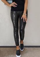 High Waist Skinny Leggings - Black