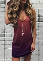 Faith Gradient Sleeveless Mini Dress