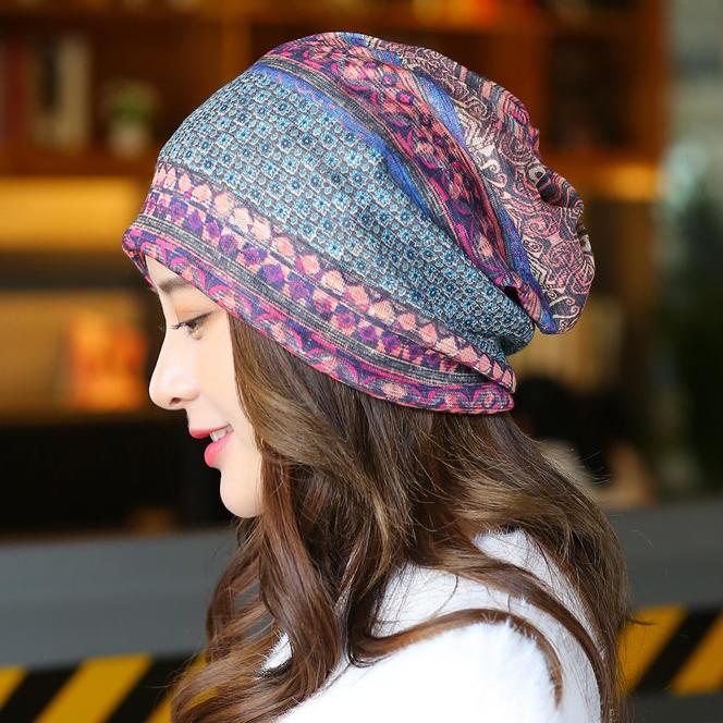 Vintage Geometric Breathable Beanie Hat