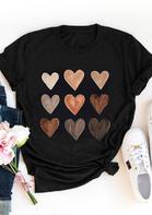 Be Kind Heart O-Neck T-Shirt Tee - Black