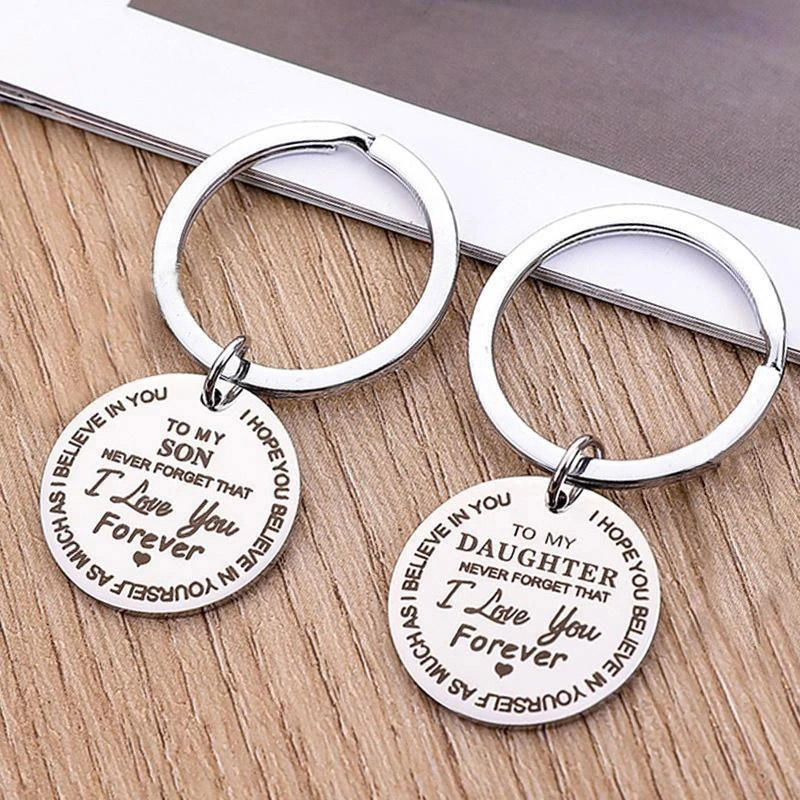 To My Daughter To My Son I Love You Forever Keychain
