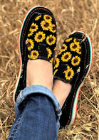 Sunflower Slip On Casual Flat Sneakers - Black