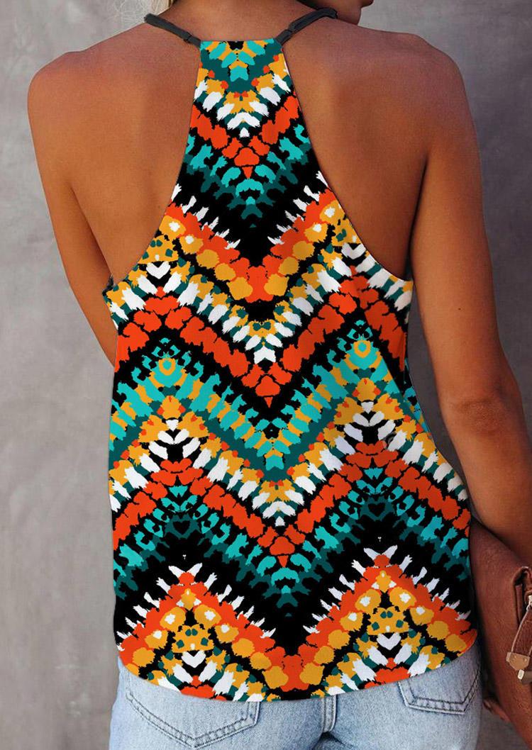 Ethnic Style Zigzag V-Neck Camisole