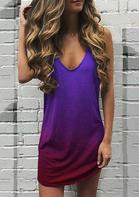 Gradient Sleeveless Mini Dress