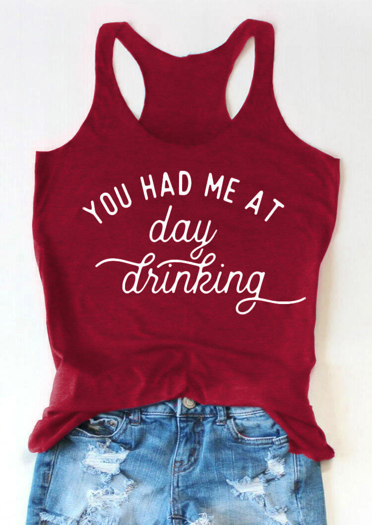You Had Me At Day Drinking Tank - Cyan