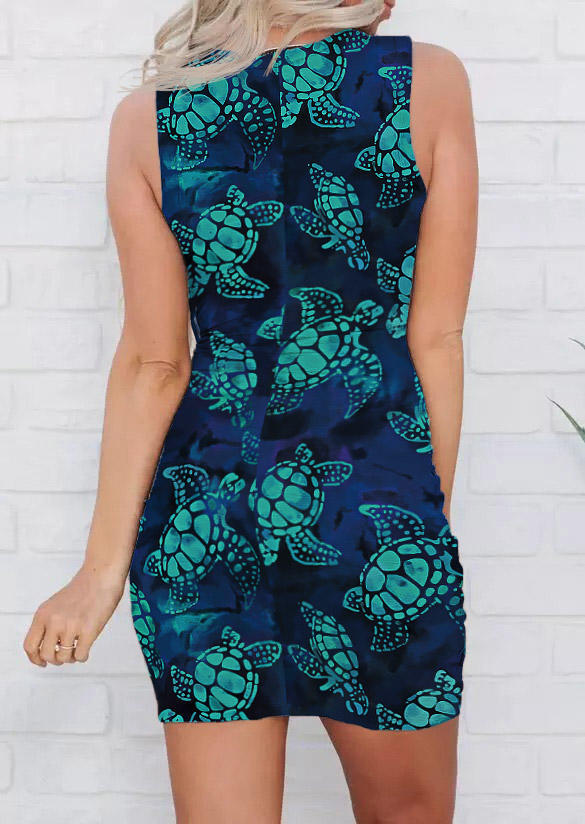 Turtle Twist Hollow Out Bodycon Dress
