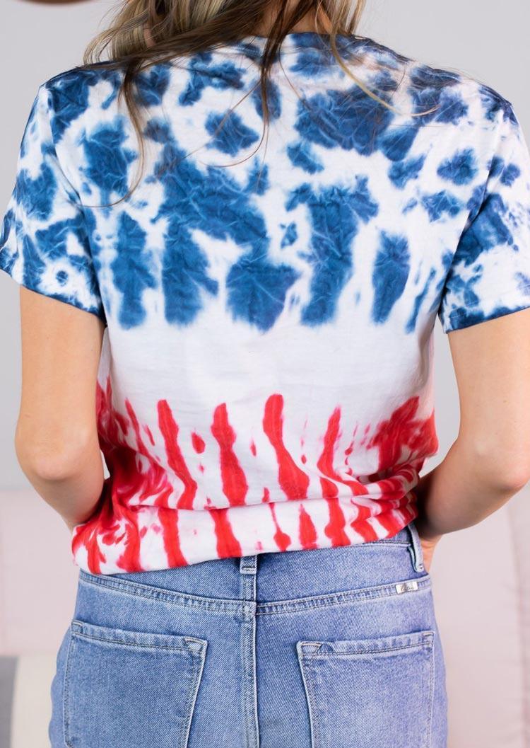 Tie Dye Mama AC DC Casual T-Shirt Tee