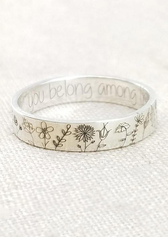 You Belong Among The Wildflowers Alloy Ring