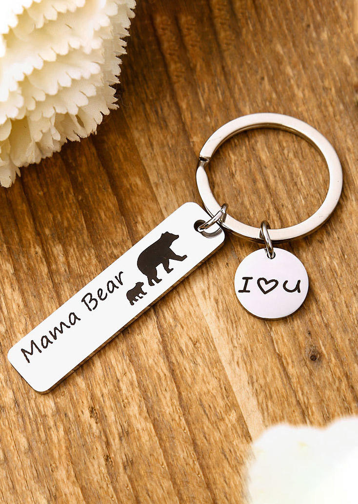 Keychains Mama Bear I Love You Keychain in Pattern2,Pattern3. Size: One Size