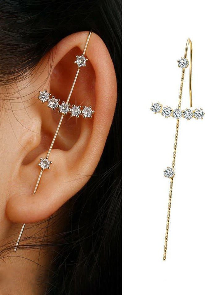 Fairyseason coupon: 1 Piece Rhinestone Ear Wrap Crawler Hook Earring