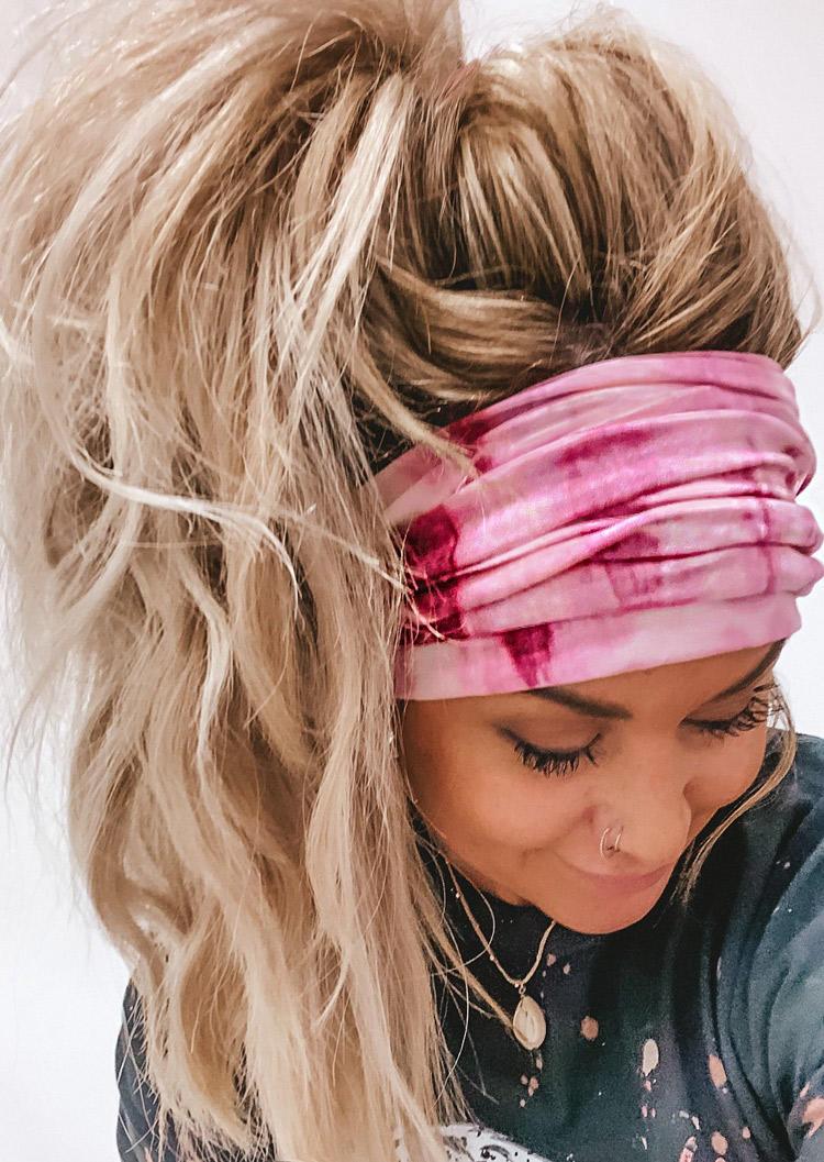 Tie Dye Elastic Yoga Sports Wide Headband