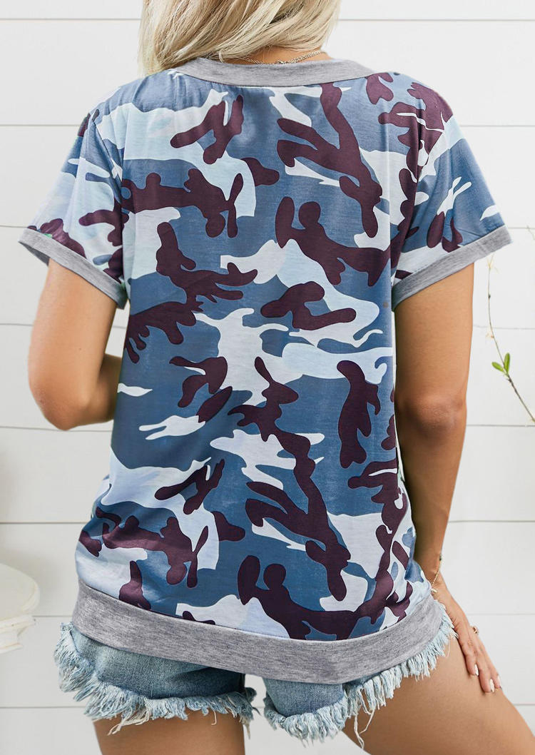 Camouflage Short Sleeve Casual T-Shirt Tee