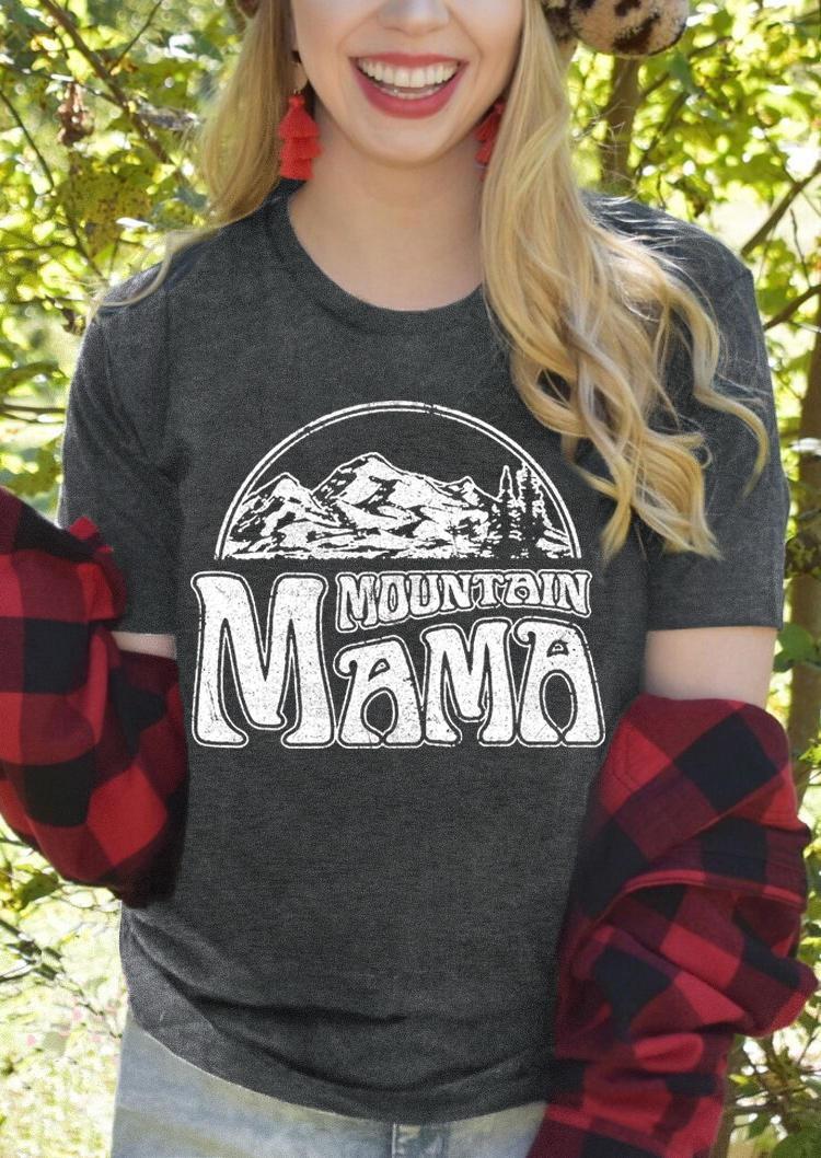 Mountain Mama T-ShirtTee - Dark Grey