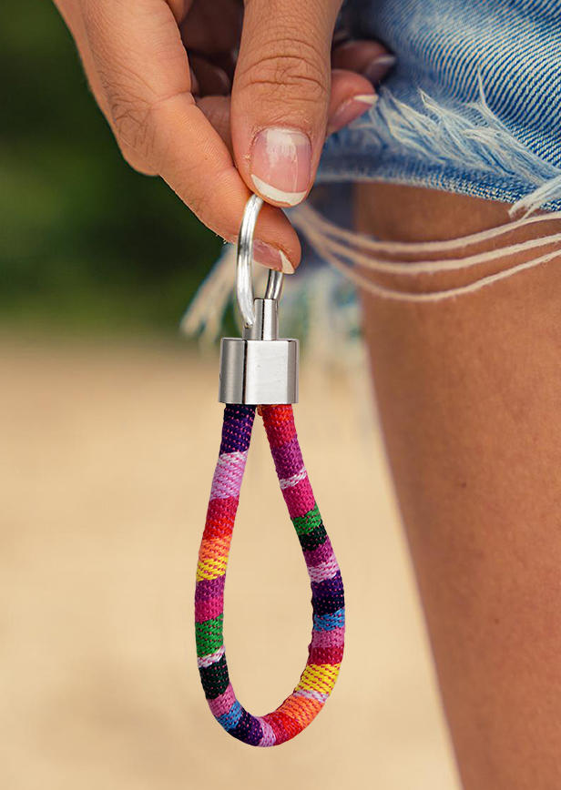 Keychains Vintage Colorful Cord Pendant Keychain in Multicolor. Size: One Size