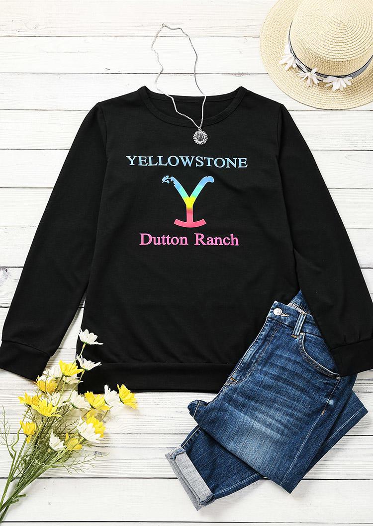 Sweatshirts Dutton Ranch LongSleeve O-Neck Sweatshirt in Black. Size: S,M,L,XL