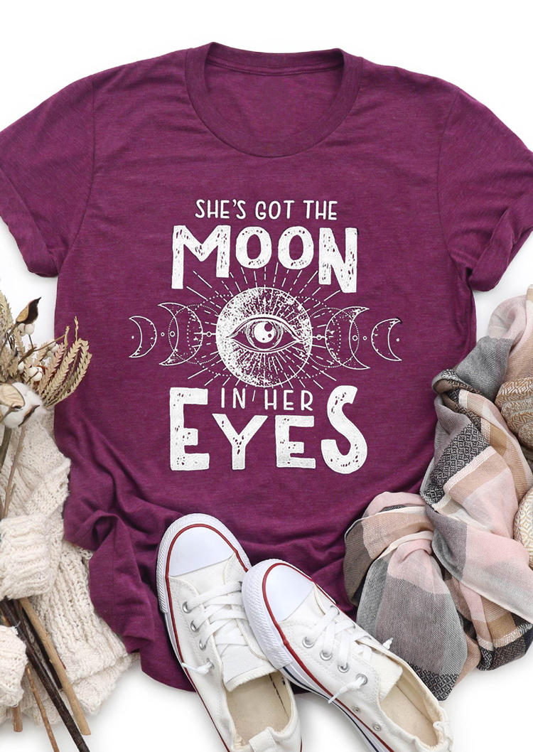 She's Got The Moon In Her Eyes T-ShirtTee - Purple