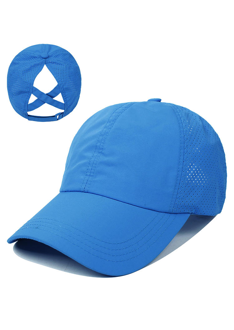 Breathable Mesh Hollow Out Ponytail Baseball Cap
