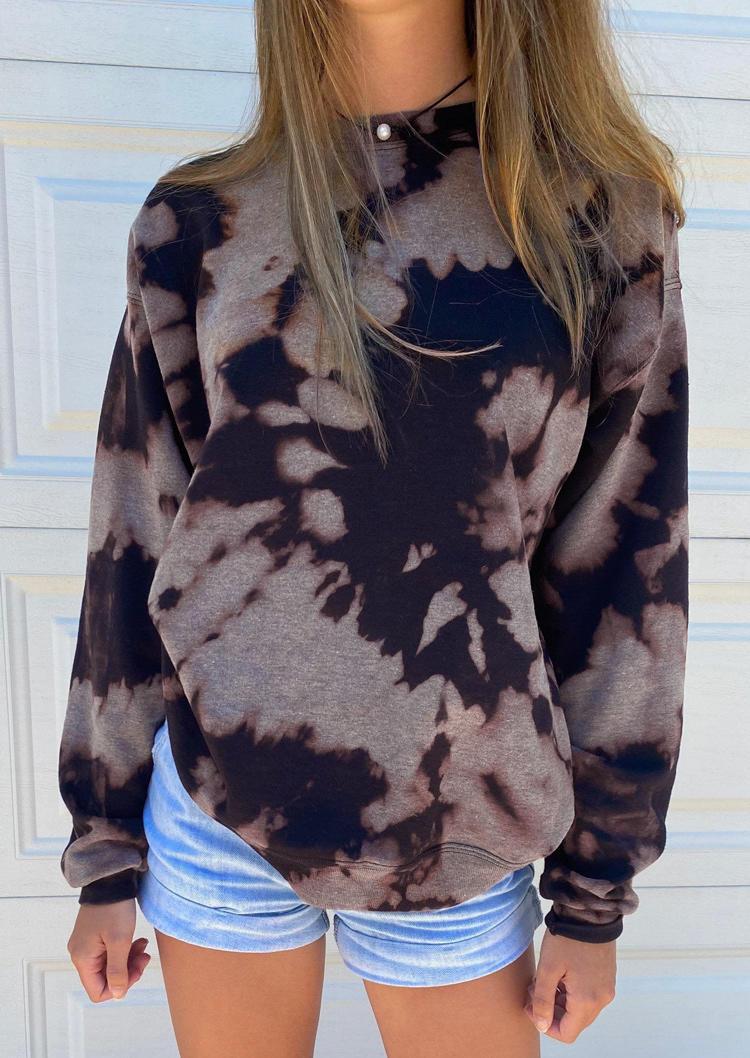 Tie Dye LongSleeve O-Neck Sweatshirt