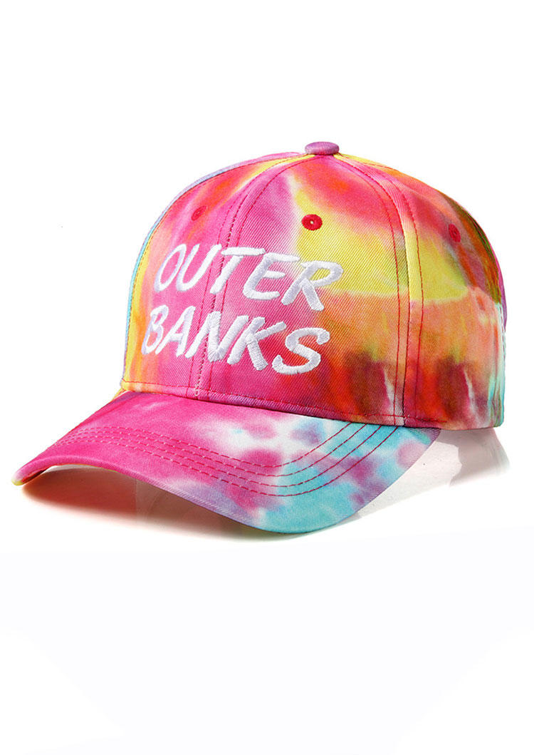 Hats Tie Dye Outer Banks Hollow Out Baseball Cap in Multicolor. Size: One Size