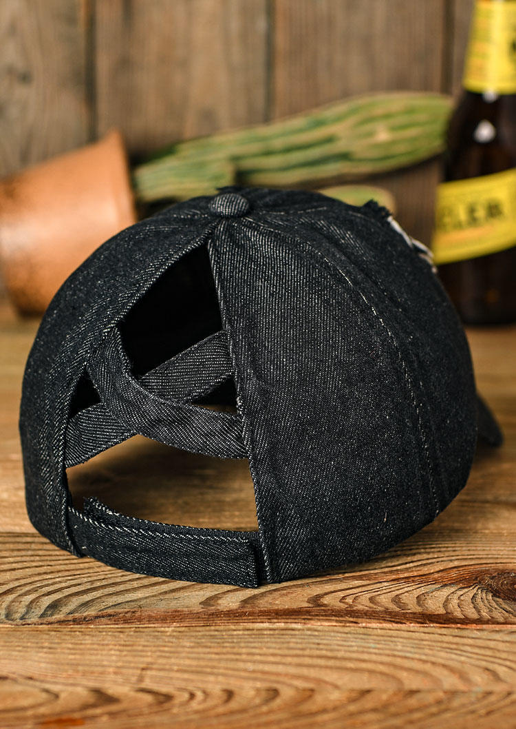 Ripped Hole Hollow Out Ponytail Baseball Cap