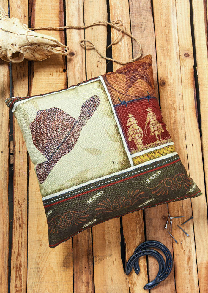 Vintage Cowboy Horse Pillowcase without Pillow