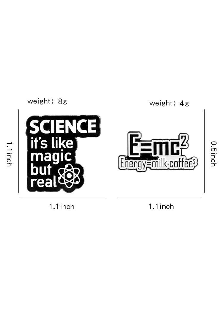 Creative Energy Science Brooch Pin