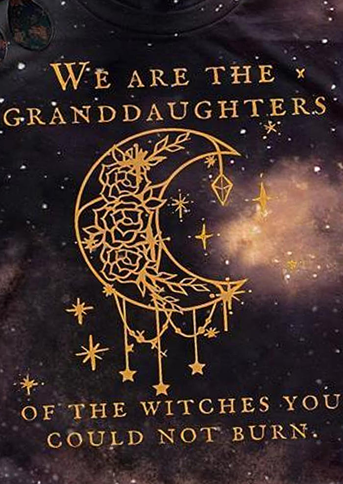 We Are the Granddaughters Of The Witches T-Shirt Tee - Purple
