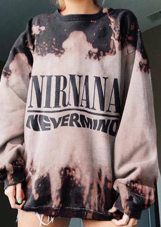 Nirnana Nevermind Tie Dye Sweatshirt - Light Coffee