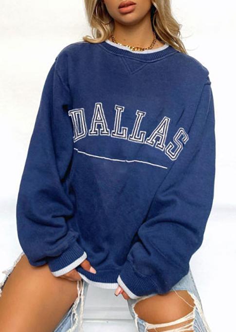 Dallas Long Sleeve Sweatshirt - Blue