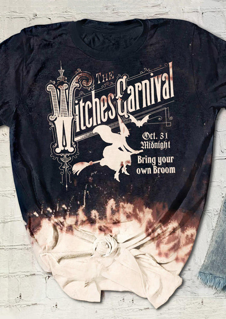 Halloween The Witches Carnival Oct.31 T-Shirt Tee - Black