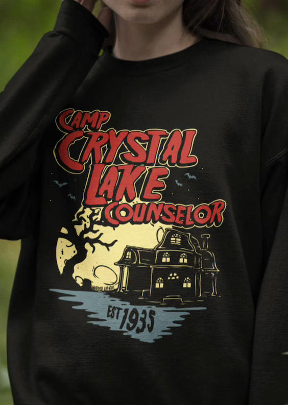 Camp Crystal Lake Counselor Sweatshirt - Black
