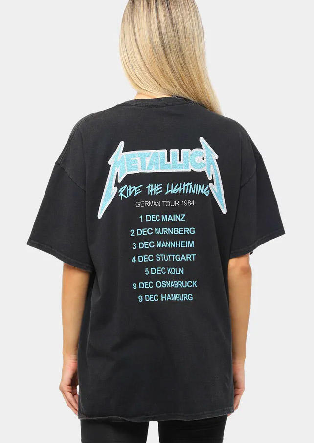 Letter Graphic T-Shirt Tee - Black