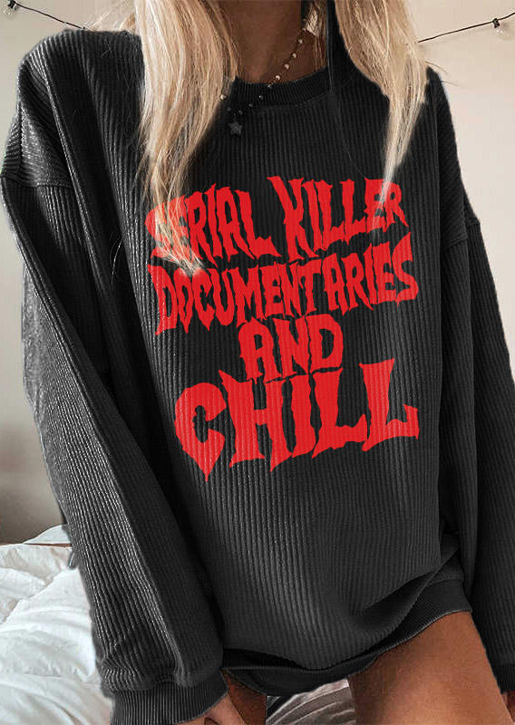 Blouses Serial killer Documentaries And Chil Blouse in Black. Size: L