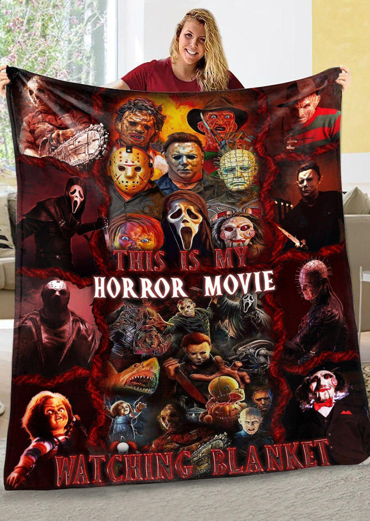 Halloween Charater This Is My Horror Movie Watching Blanket