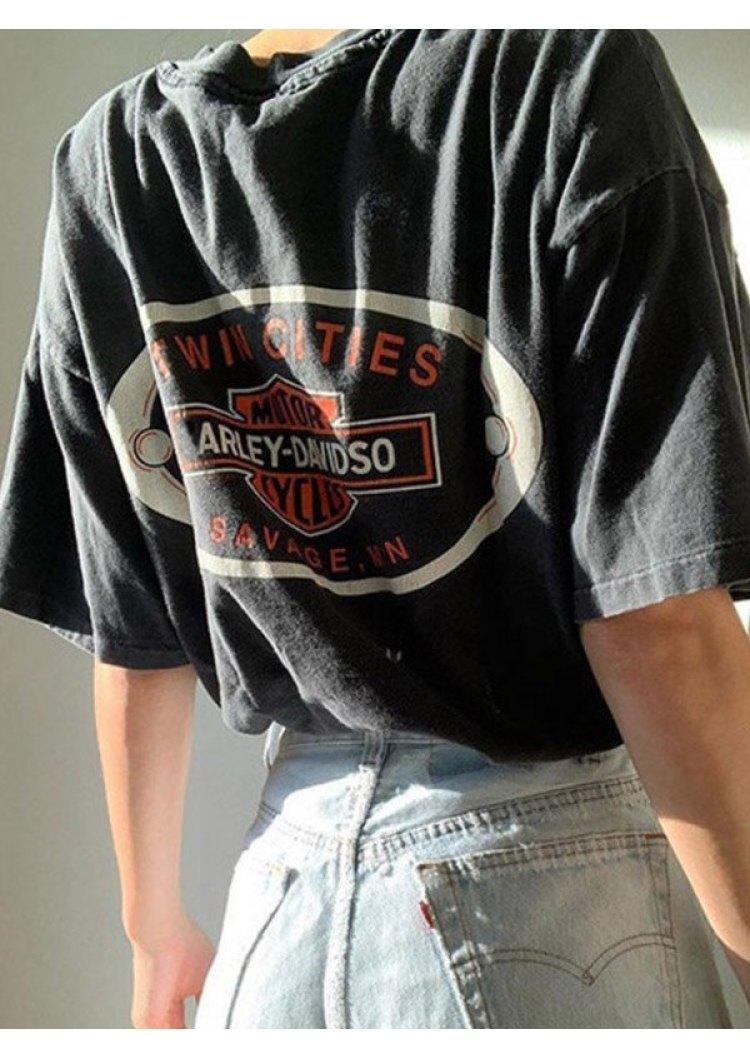 Harley Davidson T-Shirt Tee - Black