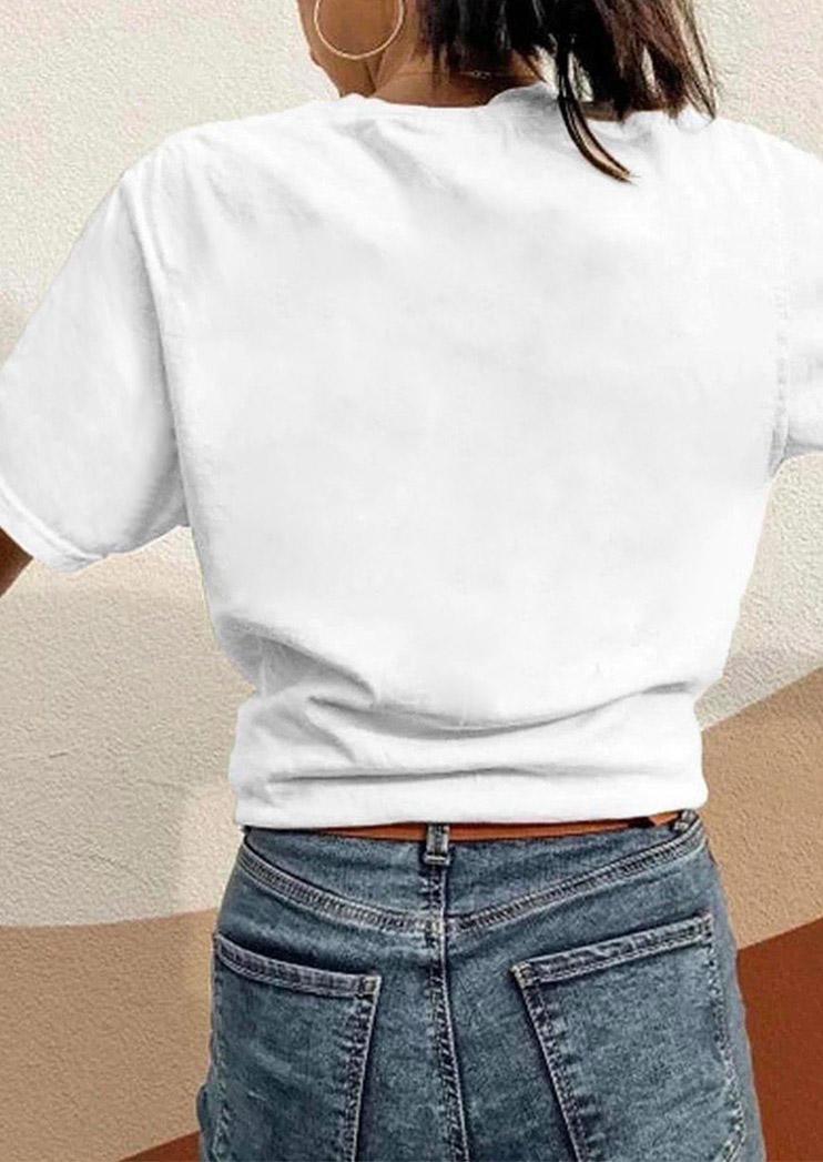 Halloween Tarot Skeleton T-Shirt Tee - White
